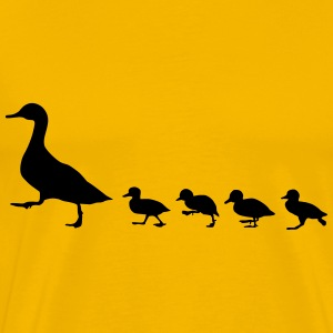 duck family, duck and ducklings T-Shirts - Men's Premium T-Shirt