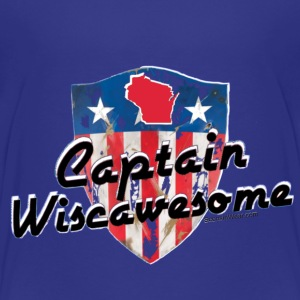 Sconsinwear Captain Wiscawesome Baby & Toddler Shirts - Toddler Premium T-Shirt
