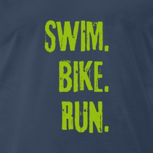 Triathlon Swim Bike Run (green) T-Shirts - Men's Premium T-Shirt