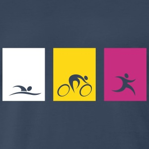 spread_usa_triathlonicons_4_cs T-Shirts - Men's Premium T-Shirt