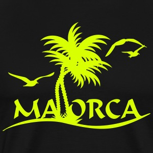 Mallorca palm trees (1c) T-Shirts - Men's Premium T-Shirt