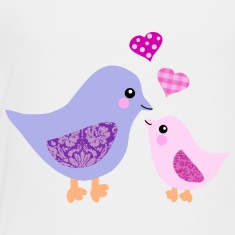 Mother bird and pink girl chick Baby & Toddler Shirts