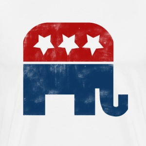 Vintage Republican Logo - Men's Premium T-Shirt