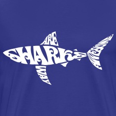Letter Art: Sharks are way awesome