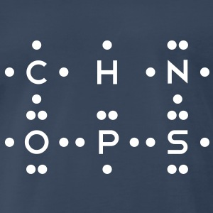 Ingredients of Life - CHNOPS (Monochrome) - Men's Premium T-Shirt