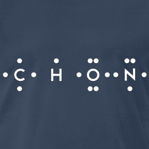 Ingredients of Life - CHON (Monochrome) - Men's Premium T-Shirt