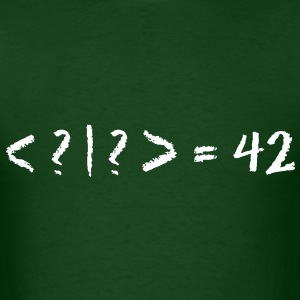 Best Quantum Joke Ever: Bra-Ket = 42 (Blackboard) - Men's T-Shirt