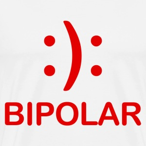 Bipolar Smiley and Frown Face - Men's Premium T-Shirt