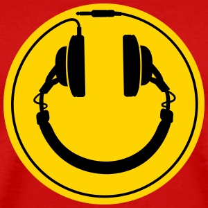 Headphones smiley wire plug T-Shirts - Men's Premium T-Shirt