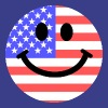 American flag smiley face T-Shirts - Men's Premium T-Shirt