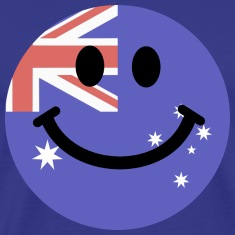 Australian flag smiley face T-Shirts