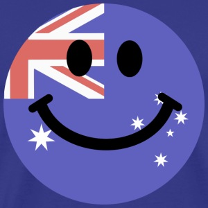 Australian flag smiley face T-Shirts - Men's Premium T-Shirt