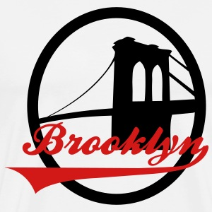 Brooklyn bridge white - Men's Premium T-Shirt