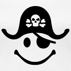 Smiley Pirate Women's T-Shirts