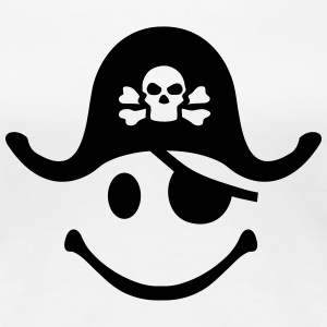Smiley Pirate Women's T-Shirts - Women's Premium T-Shirt