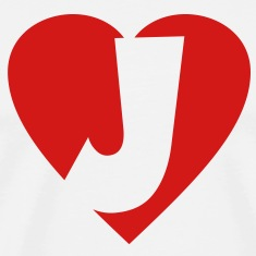 I love J - Heart J T-Shirts