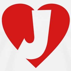 I love J - Heart J T-Shirts - Men's Premium T-Shirt
