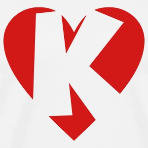 I love K T-Shirt - Heart K - Heart with letter K - Men's Premium T-Shirt
