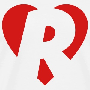 I love R T-Shirt - Heart R - Heart with letter R - Men's Premium T-Shirt