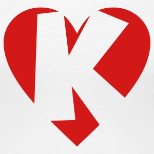 I love K T-Shirt - Heart K - Heart with letter K - Women's Premium T-Shirt