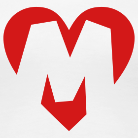 M Letter In Heart I love M T-Shir...