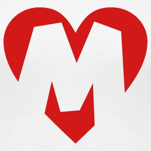 I love M T-Shirt - Heart M - Heart with letter M - Women's Premium T-Shirt