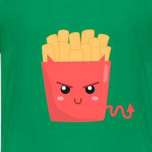 evil fries with pointy tail and ears Kids' Shirts - Kids' Premium T-Shirt