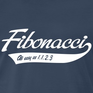 Fibonacci. As easy as 1, 1, 2, 3 T-Shirts - Men's Premium T-Shirt