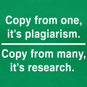 Copy from one its plagiarism Women's T-Shirts - Women's Premium T-Shirt