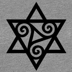 TRISKELE: Yin power symbol, vector, Merkaba, Energy Symbol, Protection Force Women's T-Shirts - Women's Premium T-Shirt