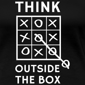 Think outside the box tic tac toe Women's T-Shirts - Women's Premium T-Shirt