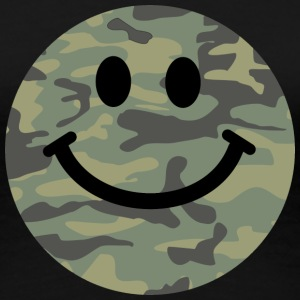 Army green camo Smiley face Women's T-Shirts - Women's Premium T-Shirt