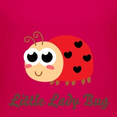 cute ladybug with hearts as spots Kids' Shirts
