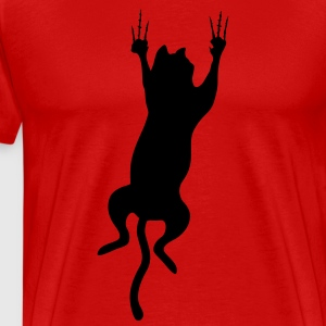 cat scratching T-Shirts - Men's Premium T-Shirt