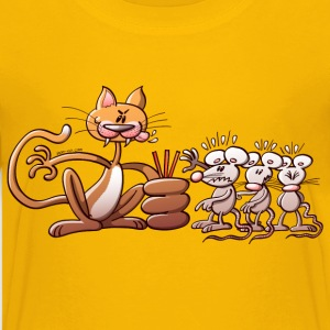 Cat Choosing a Mouse by Drawing the Short Straw Kids' Shirts - Kids' Premium T-Shirt