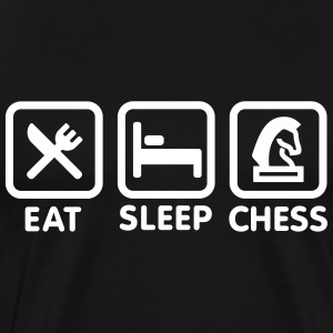 Eat - Sleep - Play chess T-Shirts - Men's Premium T-Shirt