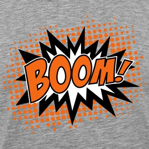 BOOM, comic, speech bubble, cartoon, balloon, dots T-Shirts - Men's Premium T-Shirt