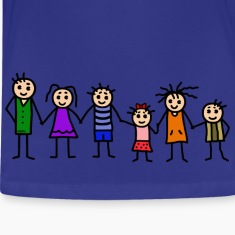 large family - patchwork family - colorful Kids' Shirts