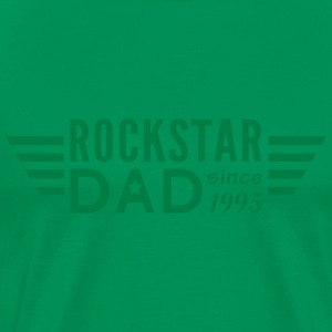 rockstar dad with wings T-Shirts - Men's Premium T-Shirt