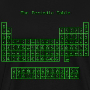 Neon green periodic table - Men's Premium T-Shirt