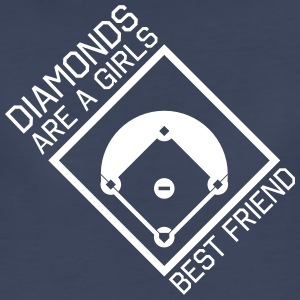 Diamonds are a girls best friend Women's T-Shirts - Women's Premium T-Shirt