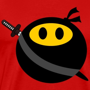 Ninja smiley face T-Shirts - Men's Premium T-Shirt