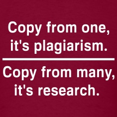 Copy from one its plagiarism T-Shirts