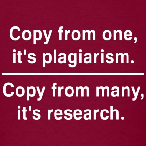 Copy from one its plagiarism T-Shirts - Men's T-Shirt