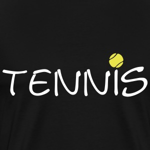 Tennis Ball Racket Court Game 2c T-Shirts - Men's Premium T-Shirt