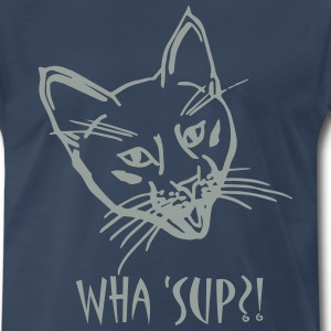 Wha' Sup Mens 3x & 4x  T-shirt Blue - Men's Premium T-Shirt