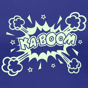 KABOOM glow in the dark, comic bubble, cartoon Women's T-Shirts - Women's Premium T-Shirt