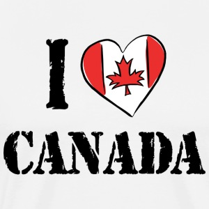 I Love Canada T-Shirt - Men's Premium T-Shirt