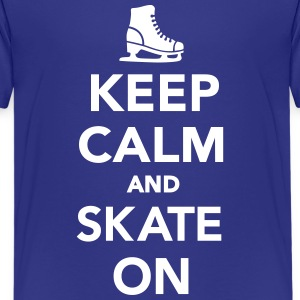 Keep calm and Skate on Kids' Shirts - Kids' Premium T-Shirt
