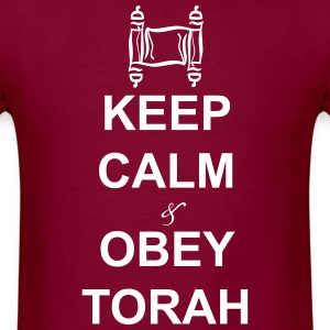 keep calm obey torah - Men's T-Shirt